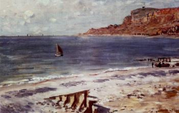 Claude Oscar Monet : Sailing At Sainte-Adresse
